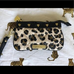 Betsey Johnson Cheetah Wristlet